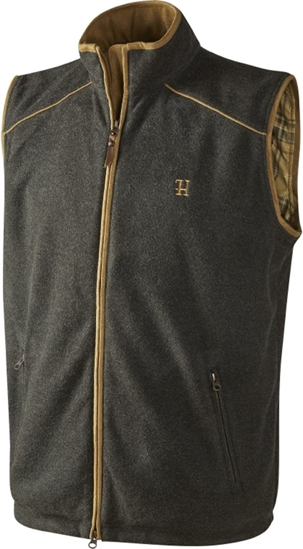 Harkila Sandhem fleece waistcoat Earth grey melange Large Grey Large Grey