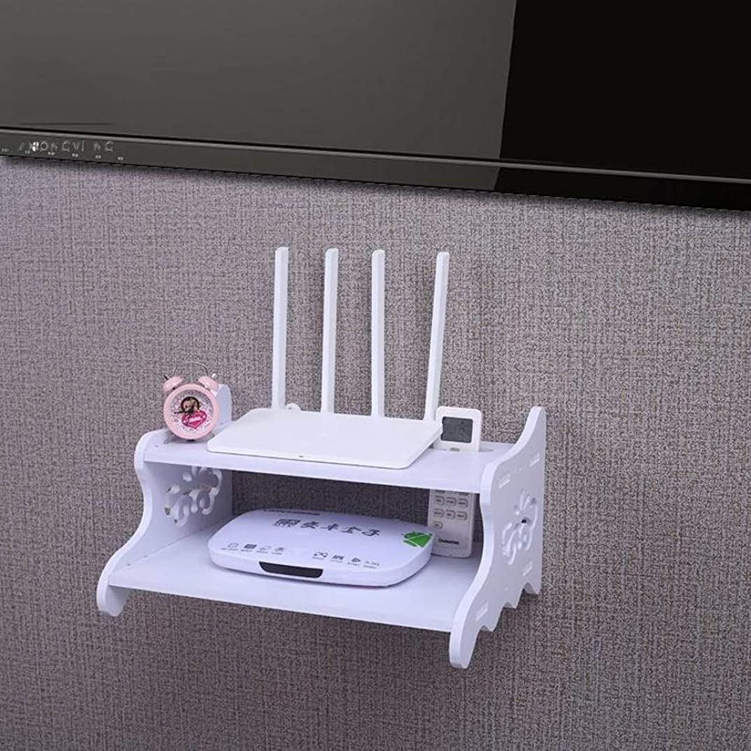 パイプ貴重なデザートテレビコンソールルータ?シェルフ、壁掛けエンターテイメントユニット壁掛けテレビキャビネットウォールデコレーションフレーム
