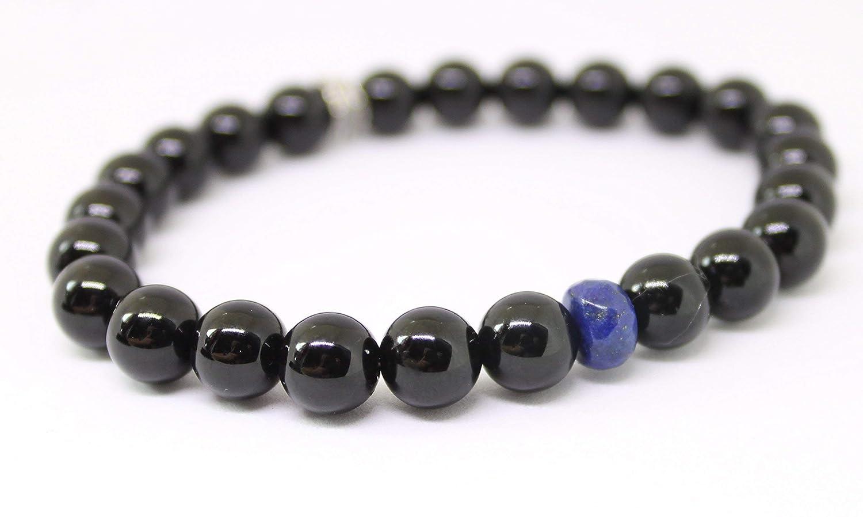 The LEO bracelet Unisex wholesale Black Onyx Ranking TOP13 Thin Blue Gemstones Lapis and