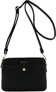 Double Compartment Small Crossbody Bag