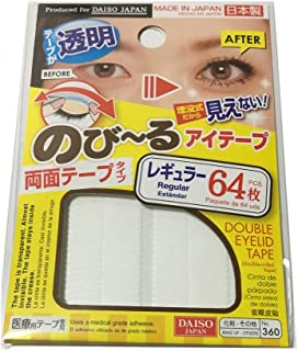 DAISO Natural Double Eyelid Clear Tape Slim 86 pcs Bandage type