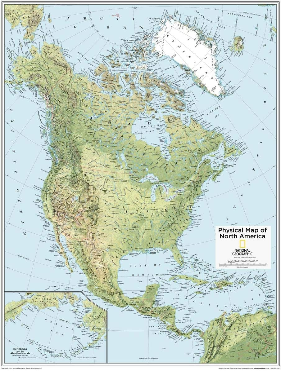 National Geographic: North America shopping Ranking TOP6 Physical Wall i 28 x Map - 22