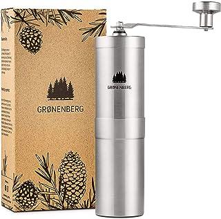 Groenenberg Kaffekvarn manuell med konisk kvarn | Kaffekvarn hand – handkaffekvarn av rostfritt stål | Espressomkvarn | Ex...