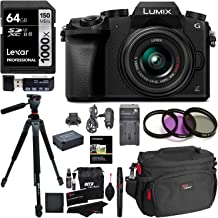 Ritz Camera Panasonic DMC-G7KK Digital Single Lens Mirrorless Camera 14-42 mm Lens Kit 4K, Accessory Bundle, Polaroid 64GB, Polaroid 72