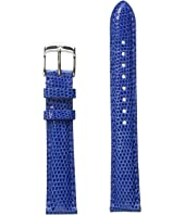 Michele - 16mm Cobalt Lizard Strap Blue