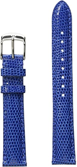 16mm Cobalt Lizard Strap Blue