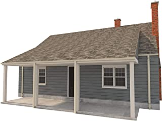 3 Bedroom House Plans - DIY Two Story Home Building 832 sq/ft Build Your Own