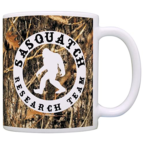 824468f6839 Sasquatch Research Team Funny Yeti Hunter Gag Gift Coffee Mug Tea Cup Camo