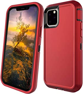 Stroson Case for iPhone 11 Pro with Built-in Screen Protector, Heavy Duty Shockproof Triple Layer Tough Bumper Support Wir...