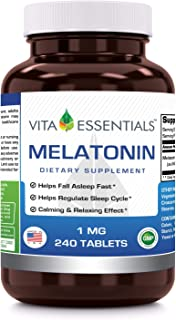 Vita Essentials Melatonin 1 Mg Tablets, 240 Count