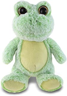 "Puzzled Super Soft Sitting Frog Plush, 9"""