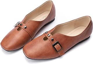 CINAK Flats for Women Comfort- Slip On Loafers Light Casual Walking Ballet Shoes