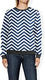 Rainbow Rules Chevron Stripes Navy - 2XL - Womens Sweatshirt