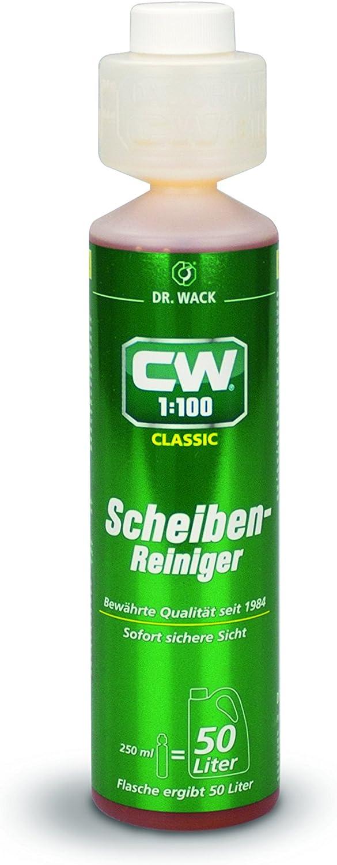 Dr Wack Cw1 100 Scheibenreiniger Classic 250 Ml I Premium Scheibenreiniger Konzentrat Für Alle Scheibenwaschanlagen Scheinwerfer Reinigungsanlagen I Hochwertige Autopflege Made In Germany Auto