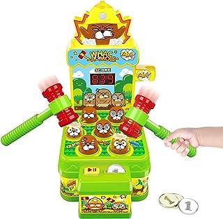 Jouet Enfant Filles Garçons, Jeux Chasse Taupe Mini Jeu Arcade sur Banc de Frappe, Jouets D'activité et De Développement p...