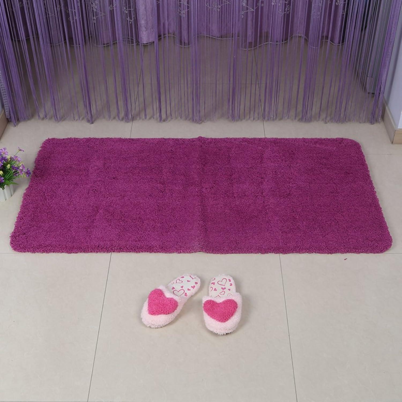 Bedroom Living Room Doormat Bedside Padded Floor mat Anti-Slip and Water-Absorbing mats for Bathroom-C 70x140cm(28x55inch)