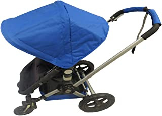Royal Dark Blue Sun Shade Canopy with Wires and Under Seat Storage Basket Plus Free Handle Bar Covers for Bugaboo Cameleon 1, 2, 3, Frog Baby Child Strollers