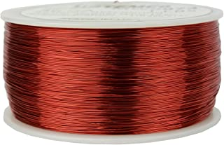 TEMCo 30 AWG Copper Magnet Wire - 1 lb 3132 ft 155°C Magnetic Coil Red