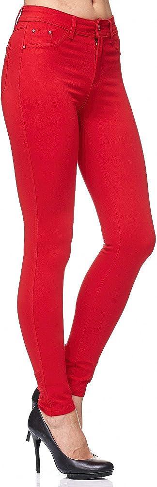 Elara, pantaloni per donna,elasticizzati,skinny fit jegging chunkyrayan,68% cotone, 27% poliestere, 5% elastan H01 34