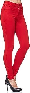 Elara Pantalón Elástico de Mujer Skinny Fit Jegging Chunkyrayan