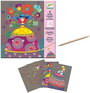 Djeco DJ09725 Kit créatif à gratter Ballon des garçons Grazies Multicolore