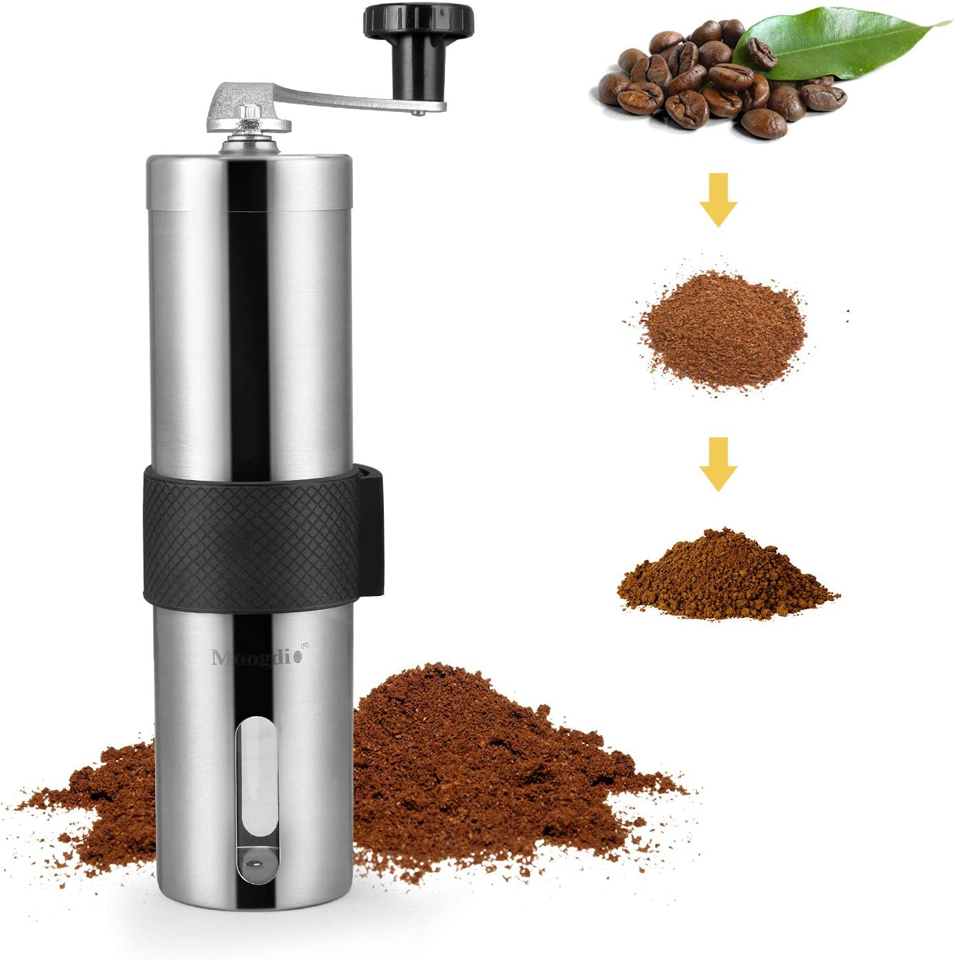 Manual Coffee Grinder conical burr Portable Stainless Steel mill quality assurance Los Angeles Mall