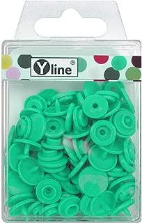 Color Morado 25 Unidades, pl/ástico, 12,4 mm Botones de presi/ón Yline KAM Snaps 3126