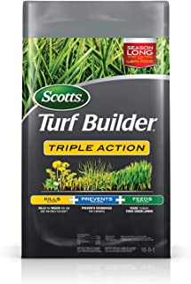 Scotts 4,000 Sq. Ft Turf Builder Triple Action | Kills Weeds Including Dandelions &..