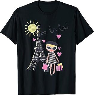 Paris France Tour Eiffel Rétro Cadeau Souvenir Fille Femme Homme T-Shirt