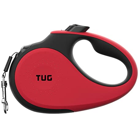 Rose red Heavy Duty Retractable Dog Leash for Small and Medium Dogs up to 55lbs 360/° Tangle-Free Upgrade Lock System Non Slip Grip