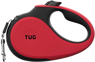 Best TUG 360° Tangle-Free, Heavy Duty Retractable Dog Leash with Anti-Slip Handle; 16 ft Strong Nylon Tape/Ribbon; One-Handed Brake, Pause, Lock Reviews