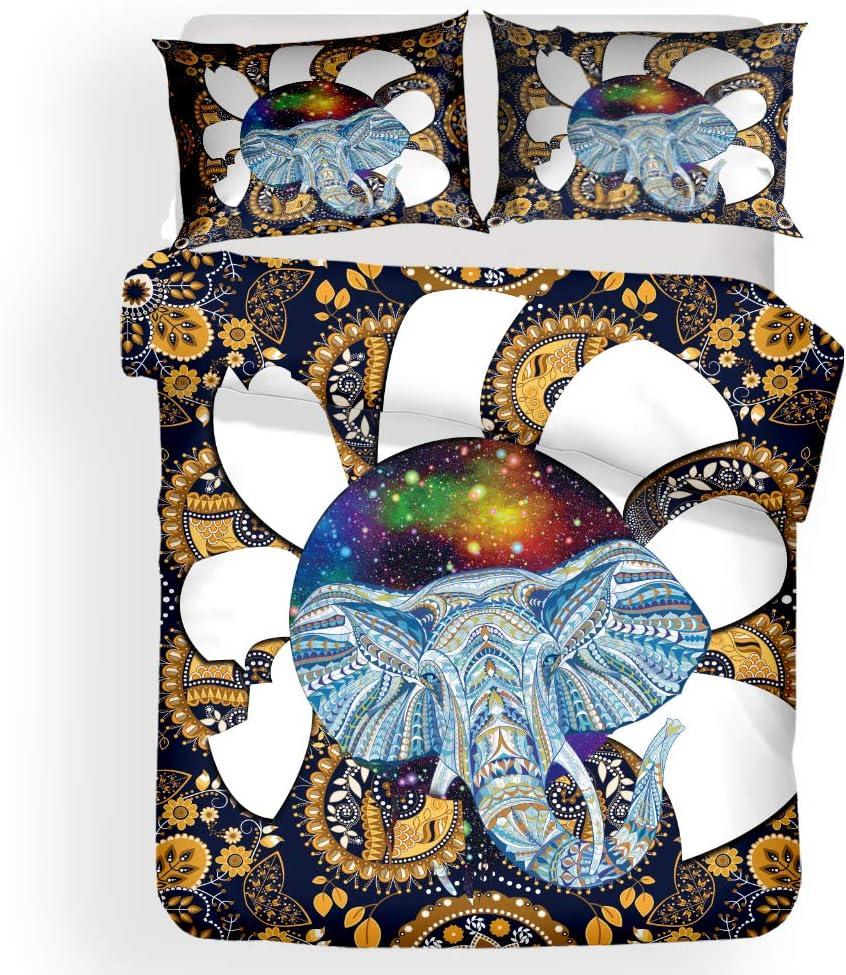 Homefit 3D Bedding Set Bohemian Starry Columbus Mall Pr Style Sky Max 71% OFF Elephants