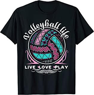 Volleyball Shirt - Live Love Play Volleyball Life T shirts