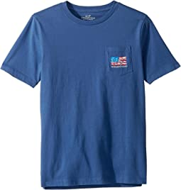 Short Sleeve School of Fish Flag Pocket T-Shirt (Toddler/Little Kids/Big Kids)