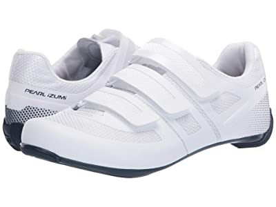 Pearl Izumi Quest Road Cycling Shoe (White/Navy) Men