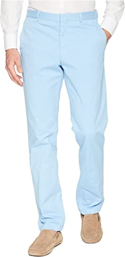 Garment Dyed Cotton Stretch Trousers