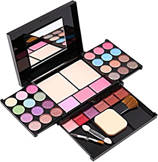 Eyeshadow Palette Makeup Palette 35 Bright Colors Matter and Shimmer Lip Gloss Blush Brushes Makeup Eyeshadow Palette Highly Pigmented Cosmetic Palette