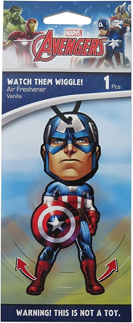 Plasticolor Marvel Captain America Autozubehör Captain America Lufterfrischer Wiggler 1 Drogerie Körperpflege