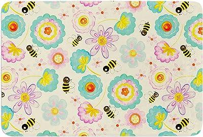 Kess InHouse Louise Machado Little Hearts Memory Foam Bath Mat 17 by 24