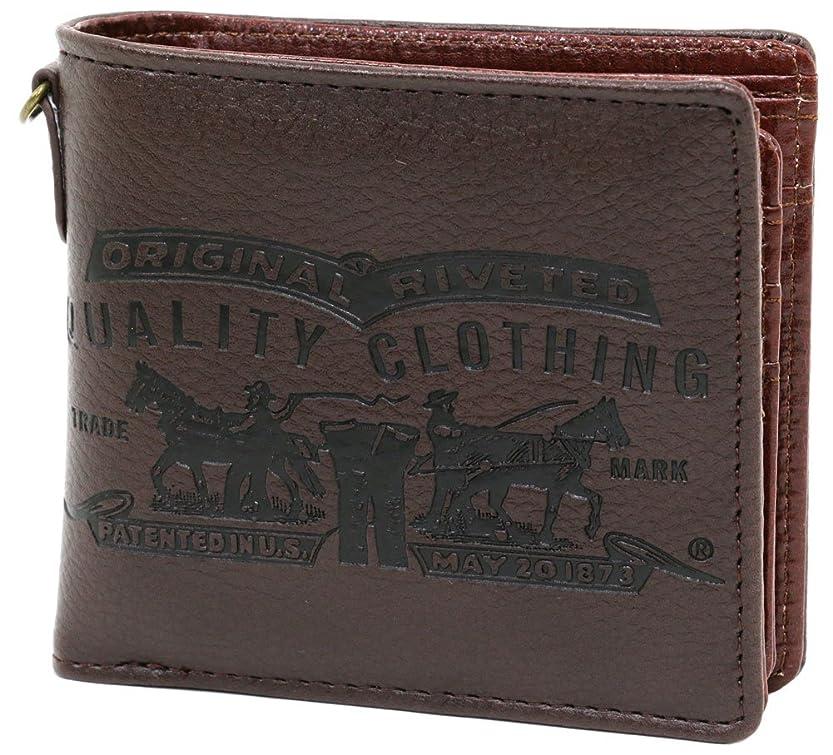 徹底傾向独創的[リーバイス] 財布 メンズ 二つ折り 中ベロ付き