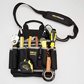 Melo Tough Professional Tool Pouch Shoulder Tool Carrier with Multiple Pockets, Tool Organizer for Technician/maintenance and Electrician's Tools