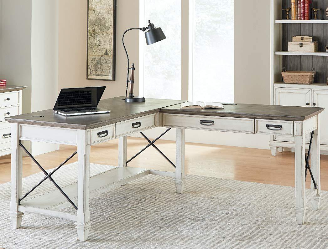 Martin Furniture Open L Desk White