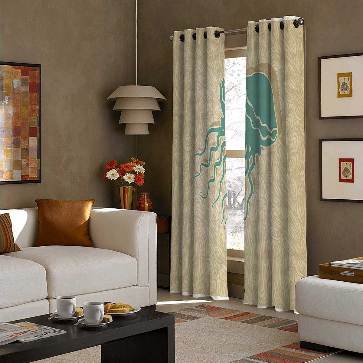 100% Blackout Curtains 96 lowest price Inch Dark Summer Longbeach New product type Room Ocean
