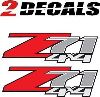 TiresFX 2009 Chevrolet Silverado Z71 4x4 (Set of 2 Decals) - F - 1500 2500 HD Stickers