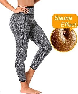6502b270b8 LAZAWG Women High Waist Trainer Sauna Pants Slimming Yoga Capris Neoprene  Sweat Leggings for Weight Loss