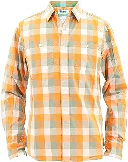 [SWEEP!! スウィープ!!]メンズ ブロックチェック柄 コットンシャツ BLOCK CHECK-VRG SWVRGBCK-05 GREEN/ORANGE (グリーン×オレンジ)