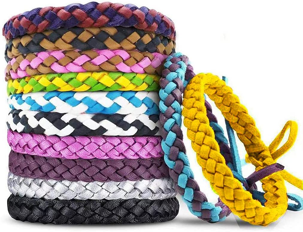 12 Pack Mosquito Repellent Bracelets sale OFFicial shop Individually PU Wrapped Le
