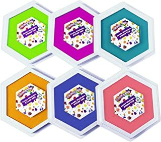 Colorations Classic Candy Colors Jumbo Washable Stamp Pads Arts and Crafts Material for Kids (Pack of 6)