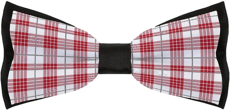 BUFFALO Check Fabric Bow Tie for Men, Pre-Tied Bow Tie, Formal Solid Tuxedo Bowtie