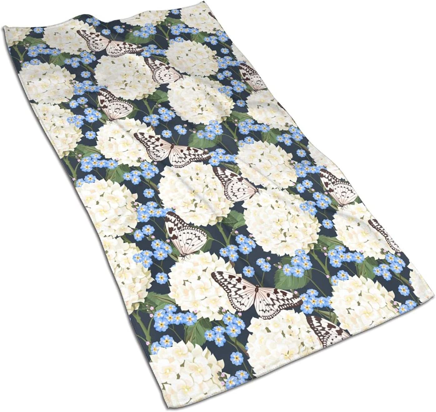 Flower famous Butterfly Print Fingertip Towels Face Very popular Quick Drying Extra